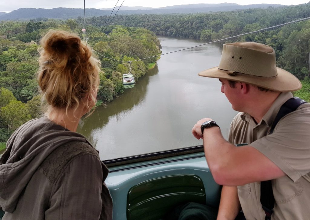 After lunch we got our turn in the Canopy Glider itu0027s my favorite way to experience Skyrail since you are in the open air. At this section you can see the ... & World Ranger Day at Skyrail Rainforest Cableway in Cairns - PhlipVids